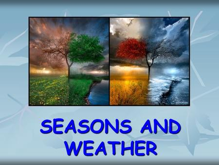 SEASONS AND WEATHER WORDS sunny windy rainy snowy hot cold.