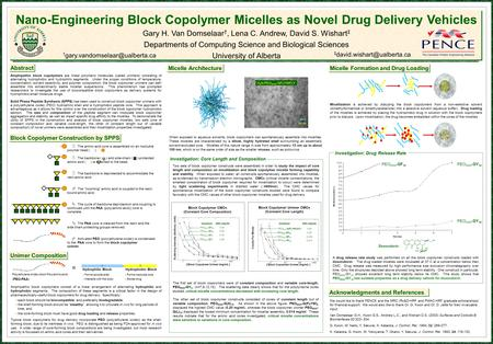 Block Copolymer Construction by SPPS Nano-Engineering Block Copolymer Micelles as Novel Drug Delivery Vehicles Gary H. Van Domselaar †, Lena C. Andrew,