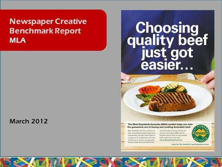 March 2012 Newspaper Creative Benchmark Report MLA.