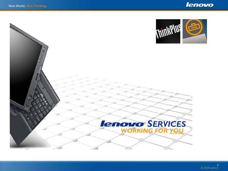 1 © 2006 Lenovo. 2 Selling Lenovo Services- The First Question! How would you like to extend your client relationships over longer periods of time, increase.