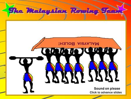 The Malaysian Rowing Team