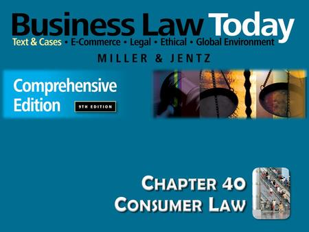 Chapter 40 Consumer Law.
