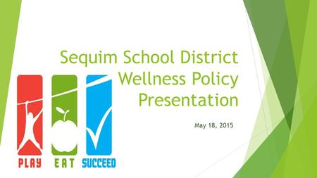 Sequim School District Wellness Policy Presentation May 18, 2015.