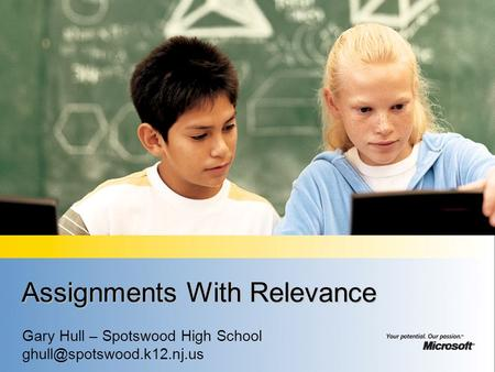 Assignments With Relevance Gary Hull – Spotswood High School