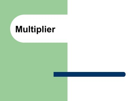 Multiplier. Closing the recessionary gap Classical Theory  In the Classical Economics, a recessionary gap is only temporary.  Because the surplus in.