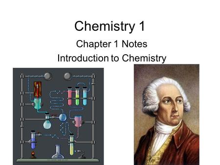 Chemistry 1 Chapter 1 Notes Introduction to Chemistry.