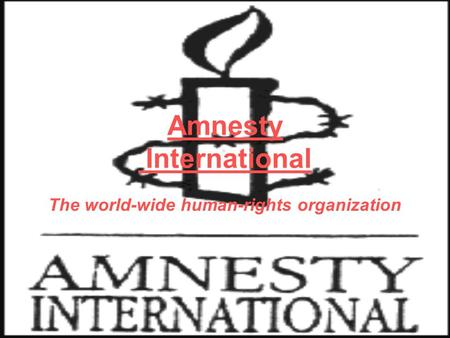 Amnesty International The world-wide human-rights organization.