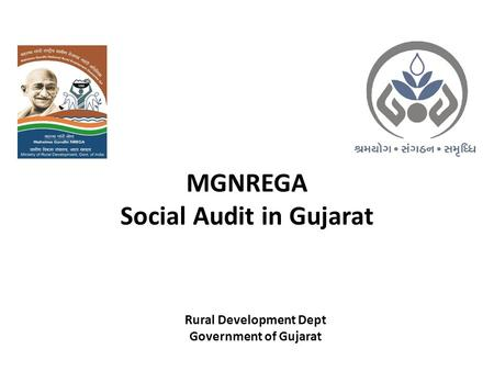 MGNREGA Social Audit in Gujarat Rural Development Dept Government of Gujarat.