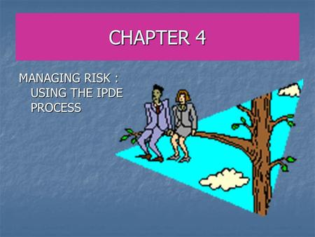 CHAPTER 4 MANAGING RISK : USING THE IPDE PROCESS.