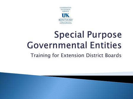 Training for Extension District Boards. Sets Financial Reporting Requires Annual Registration Fee.