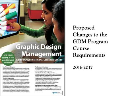 Proposed Changes to the GDM Program Course Requirements 2016-2017.