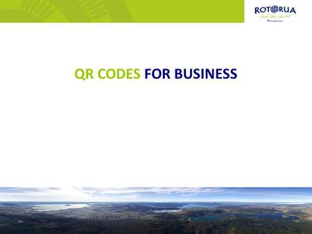 QR CODES FOR BUSINESS. QR Code (abbreviated from Quick Response Code) is the trademark for a type of matrix barcode (or two-dimensional code) first designed.