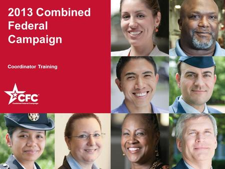 2013 Combined Federal Campaign Coordinator Training.