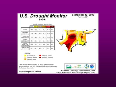 Water Forecast: What South-Central U.S. Natural Resource Managers Should Expect in the Coming Years Steven McNulty, Ph.D. Research Ecologist.