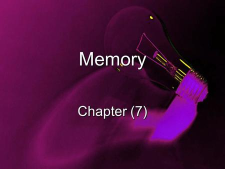 Memory Chapter (7). Do you feel like you have a good memory? What are the types of things that are easy for you to forget? Minimum of 4 sentences.