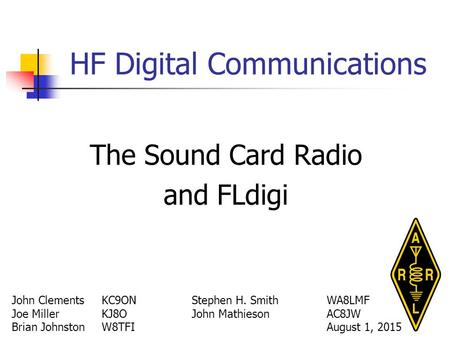 HF Digital Communications
