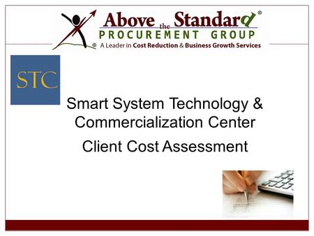 Smart System Technology & Commercialization Center Client Cost Assessment.