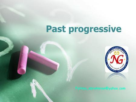 Past progressive Simple past The simple past refers to a completed action at one particular time in the past.