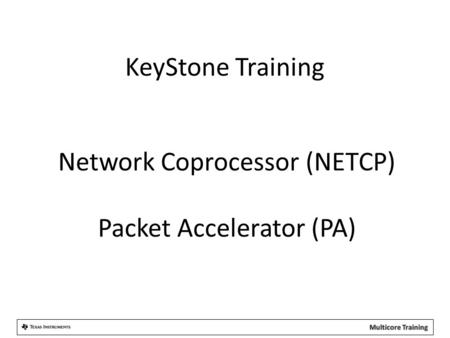 Network Coprocessor (NETCP) Packet Accelerator (PA)