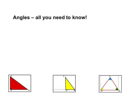Angles – all you need to know!. Contents Recap the terms Angles in daily life What is an angle? Naming an angle Interior and exterior of an angle Measurement.