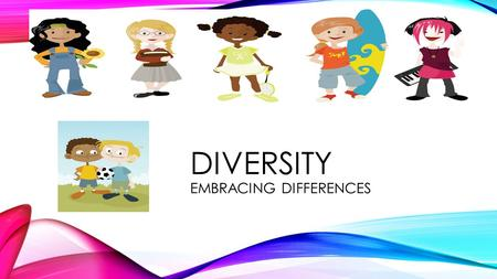 DIVERSITY EMBRACING DIFFERENCES. Diversity: Variety of ethnicities, socioeconomic status, gender, etc… together in a group, society, or institution Stereotype: