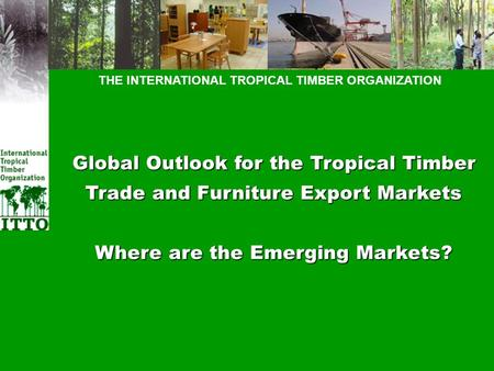 THE INTERNATIONAL TROPICAL TIMBER ORGANIZATION Global Outlook for the Tropical Timber Trade and Furniture Export Markets Where are the Emerging Markets?
