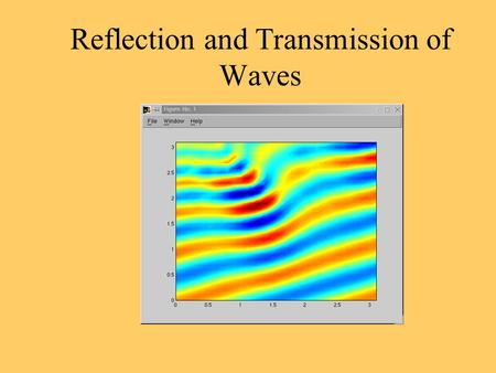 Reflection and Transmission of Waves. When a pulse is produced along a rope or slinky that has a free end, the wave is reflected back along the same side,