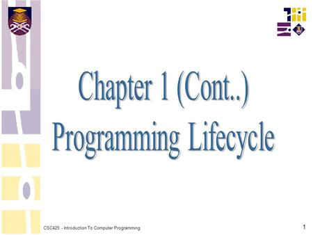 Programming Lifecycle