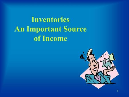 1 Inventories An Important Source of Income. 2 JOIN KHALID AZIZ ECONOMICS OF ICMAP, ICAP, MA-ECONOMICS, B.COM. FINANCIAL ACCOUNTING OF ICMAP STAGE 1,3,4.