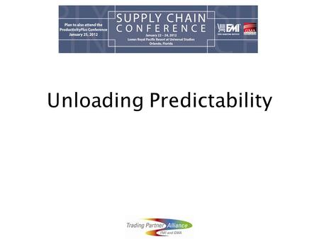 Unloading Predictability. Agenda Objectives Approach Landscape Challenges Open Discussion.