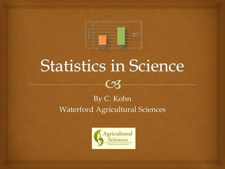 By C. Kohn Waterford Agricultural Sciences.   A major concern in science is proving that what we have observed would occur again if we repeated the.