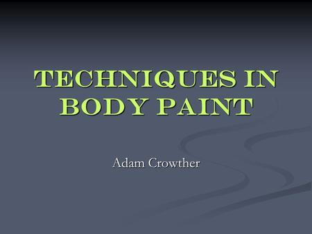 "Techniques in body paint Adam Crowther. For this tutorial, I will be using my ""Savage Hoplite"" model. We start by simply pulling up the model in Lightwave."
