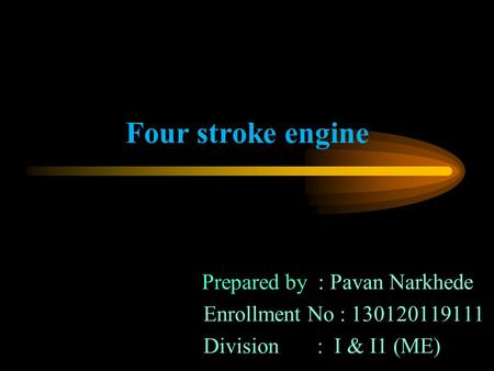 Prepared by : Pavan Narkhede