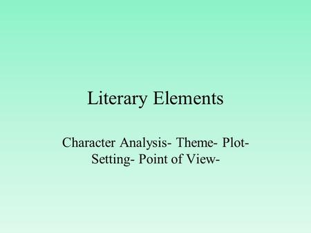 a literary analysis of themes in the literature by frost Quarter2 unit 2 – theme in robert frost poetry erie's public schools – writing curriculum draft – 2014 robert frost: language of literature teaching points:.