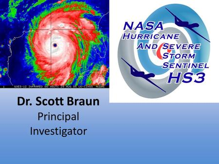 Dr. Scott Braun Principal Investigator. Hurricane Intensity Is Difficult To Predict Intensity prediction is difficult because it depends on weather at.