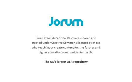 Free Open Educational Resources shared and created under Creative Commons licenses by those who teach in, or create content for, the further and higher.