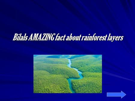 Bilals AMAZING fact about rainforest layers. Introduction Rain forests are hot, wet and very dry. There Are 4 layers in a rain forest. The biggest rainforest.