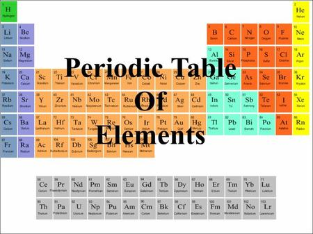 Periodic Table Of Elements. Understand the organization of the periodic table. Identify properties of metals and non-metals KEY WORDS Periodic tableFamilyPeriod.