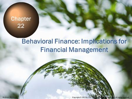 Behavioral Finance: Implications for Financial Management
