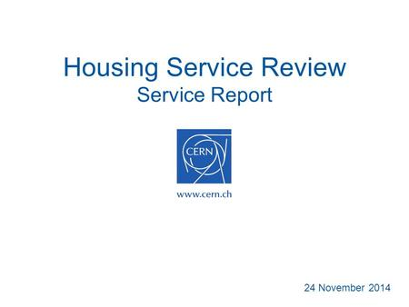 Housing Service Review Service Report 24 November 2014.