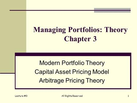capital asset pricing model capmvs arbitrage pricing Arbitrage pricing theory (apt) is an alternate version of the capital asset pricing model (capm) this theory, like capm , provides investors with an estimated required rate of return on risky securities.