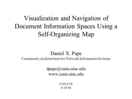 Community Architectures for Network Information Systems