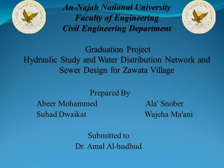Prepared By Abeer Mohammed Ala' Snober Suhad Dwaikat Wajeha Ma'ani Submitted to Dr. Amal Al-hudhud.