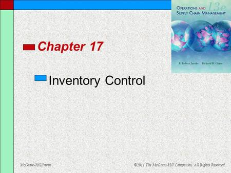 Chapter 17 Inventory Control.