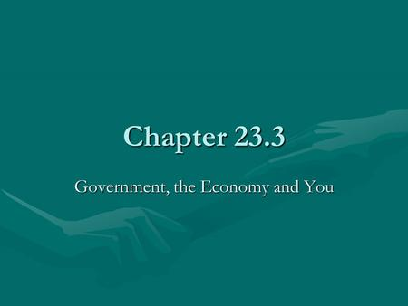 Chapter 23.3 Government, the Economy and You. Income Inequality Education, family wealth and discrimination are common reasons for income differences.