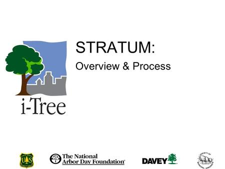 STRATUM: Overview & Process. Session Purpose i-Tree STRATUM Savvy Community forest management.