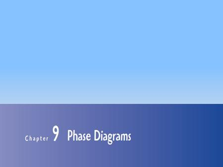 1. Chapter 09: Phase Diagram 2 Introduction Phase Diagrams are road maps.