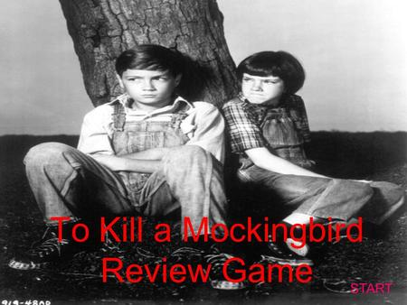 To Kill a Mockingbird Review Game START Character ID #1 Quotes #1ThemesCharacter ID #2 Quotes #2 10 20 30 40 50.