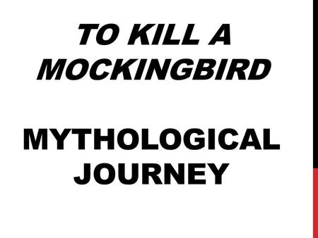 To kill a mockingbird compared with