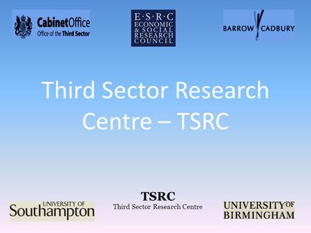 TSRC Third Sector Research Centre Third Sector Research Centre – TSRC.